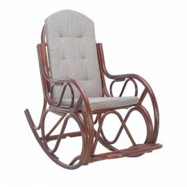 Кресло-качалка CLASSIC с подушкой, цвет Коньяк, подушка Бежевая